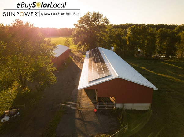 Solar installation on a farm in Hudson Valley